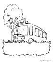 coloriage bus